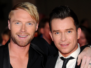 Ronan Keating and Stephen Gately attend the Pride of Britain Awards