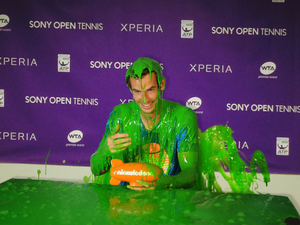 Andy Murray gets slimed for the Nickelodeon Kids' Choice Awards