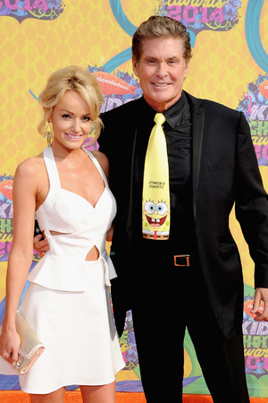 David Hasselhoff and Hayley Roberts at the Nickelodeon Kids Choice Awards 2014