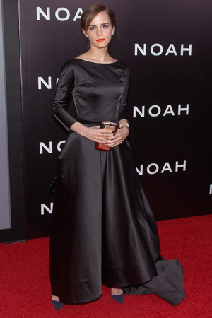 NEW YORK, NY - MARCH 26: Actress Emma Watson attends the 'Noah' New York Premiere at Ziegfeld Theatre on March 26, 2014 in New York City. (Photo by Jim Spellman/WireImage)