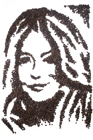 Sienna Miller recreated with coffee beans