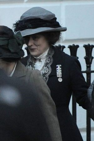 'Suffragette' on set filming, London, Britain - 25 Mar 2014 Meryl Streep 25 Mar 2014