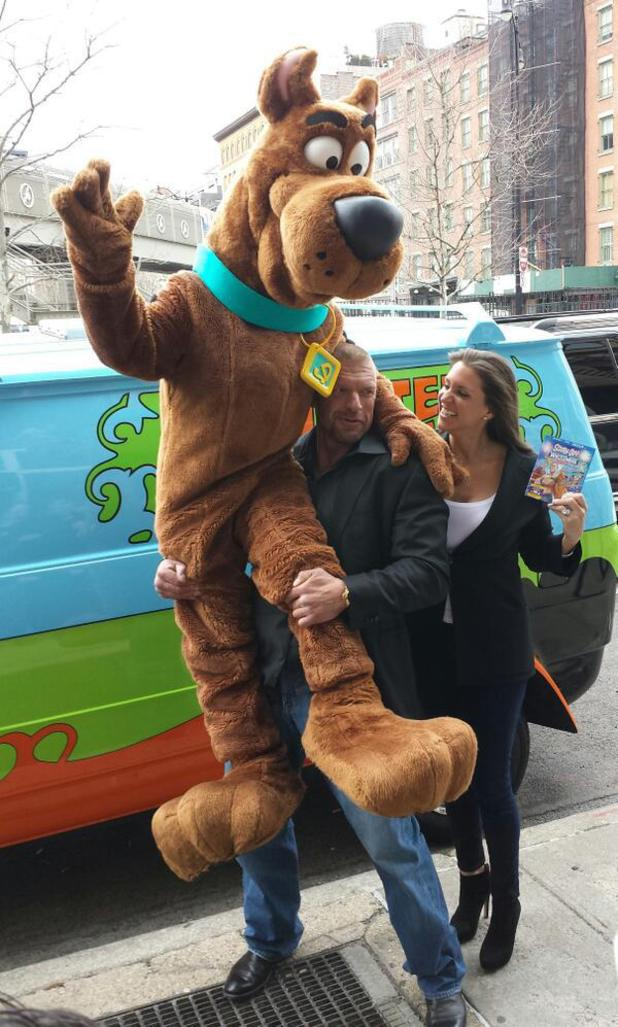 Scooby Do, Triple H and Stephanie McMahon