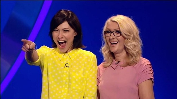 Emma Willis and her mum on Catchphrase