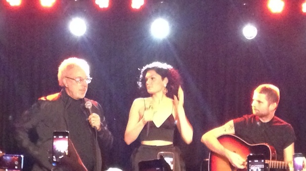 Tom Jones pays ode to Jessie J at her secret birthday gig