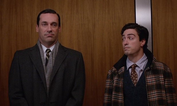 Don Draper and Michael Ginsberg in Mad Men