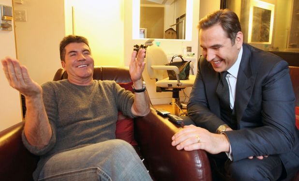 Simon Cowell and David Walliams backstage at London Studios, London, Britain - 20 Mar 2012 Simon Cowell and David Walliams 20 Mar 2012