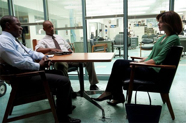 Michelle Monaghan, Michael Potts and Tory Kittles in True Detective episode 6 'Haunted Houses'