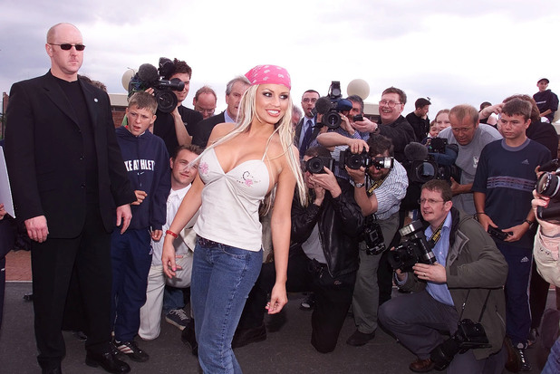 June 2001: Katie Price campaigns for election to the House of Commons