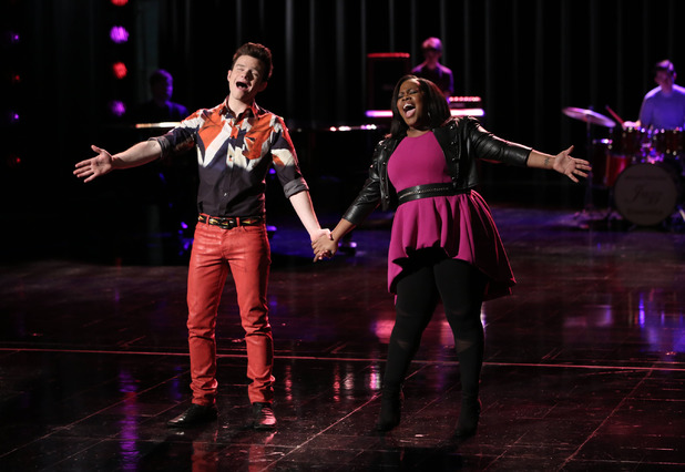 Chris Colfer as Kurt and Amber Riley as Mercedes in the Glee: 'New Directions'