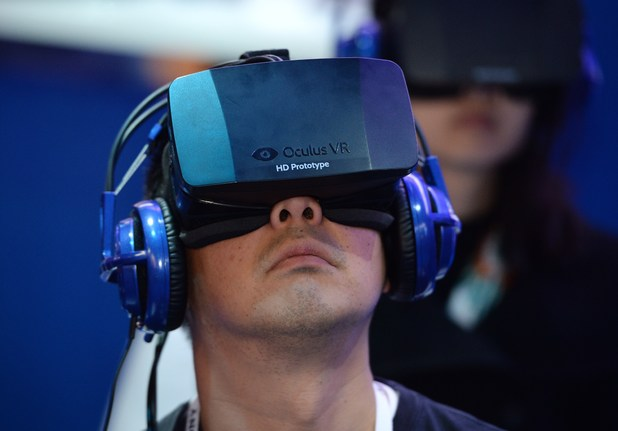 Oculus Rift in action at CES 2014
