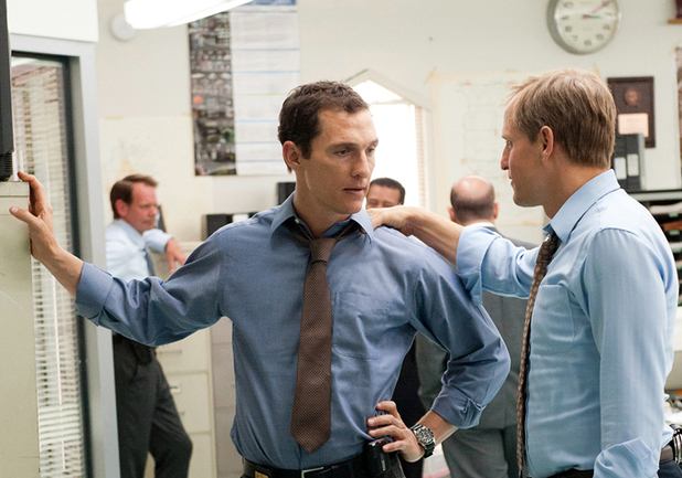 Matthew McConaughey and Woody Harrelson in True Detective episode 6 'Haunted Houses'