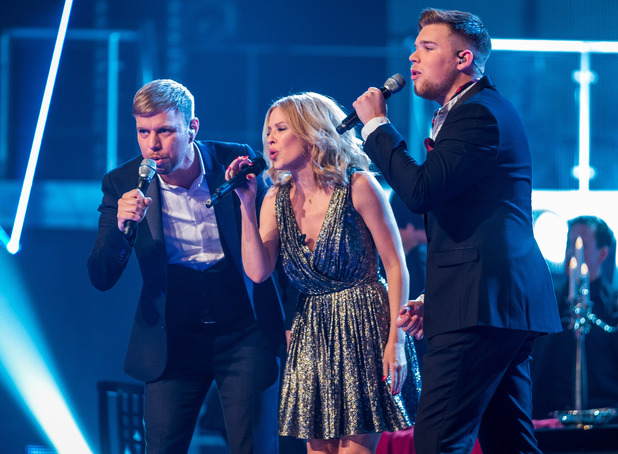 The Voice: Lee Glasson, Kylie Minogue, Jamie Johnson