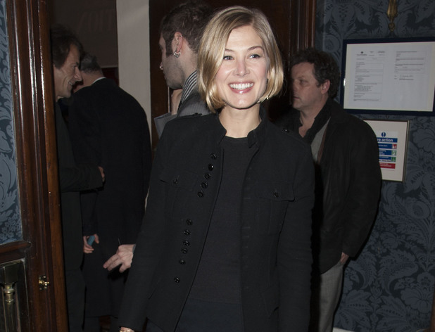 Rosamund Pike at the opening night of Fatal Attraction