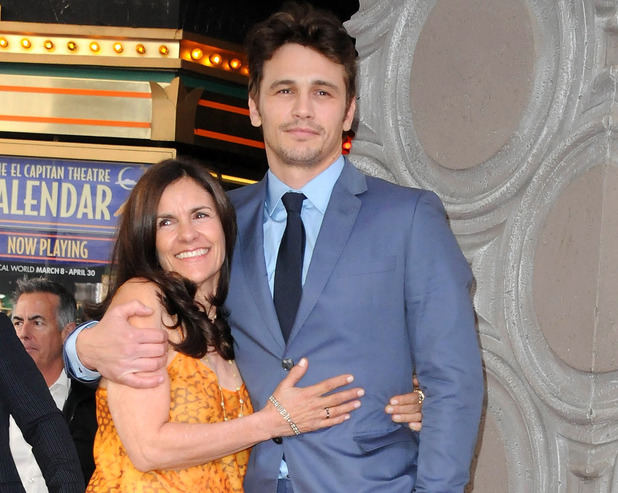 HOLLYWOOD, CA - MARCH 07: Actor James Franco and mom participate in James Franco's Star ceremony on the Hollywood Walk Of Fame on March 7, 2013 in Hollywood, California. (Photo by Albert L. Ortega/Getty Images)