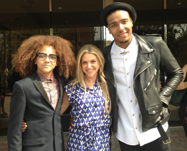 Anna Williamson with Perri and Jordan