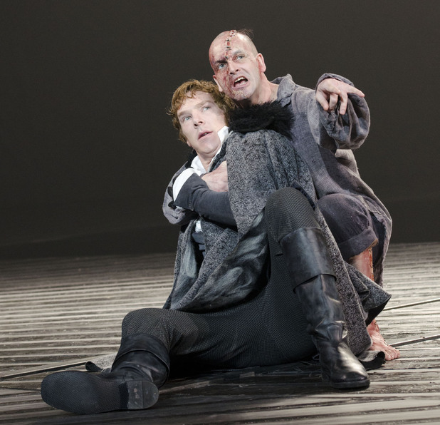 Benedict Cumberbatch and Jonny Lee Miller in Frankenstein at the National Theatre