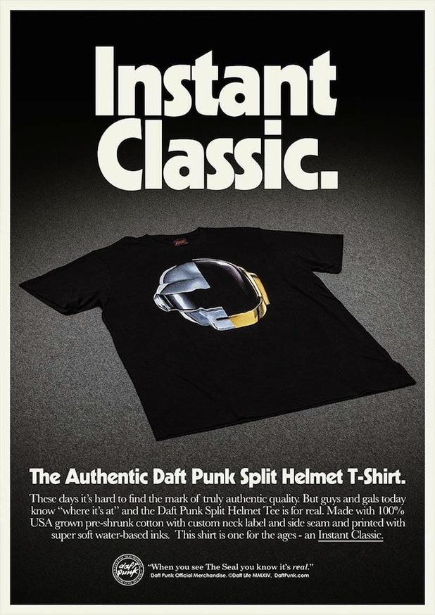 Daft Punk merchandise poster.