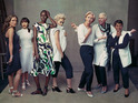 Annie Lennox, Rita Ora, Baroness Lawrence and Alek Wek wear the latest collection.