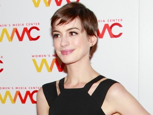 NEW YORK, NY - NOVEMBER 13: Actress Anne Hathaway hosts the 2012 Women's Media Awards at Guastavino's on November 13, 2012 in New York City. (Photo by Charles Eshelman/FilmMagic)