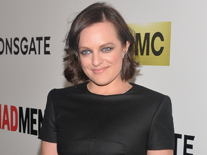 Caption:HOLLYWOOD, CA - APRIL 02: Actress Elizabeth Moss attends the AMC celebration of the 'Mad Men' season 7 premiere at ArcLight Cinemas on April 2, 2014 in Hollywood, California. (Photo by Alberto E. Rodriguez/Getty Images)