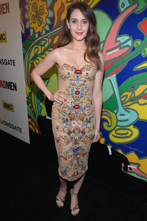 Caption:HOLLYWOOD, CA - APRIL 02: Actress Alison Brie attends the AMC celebration of the 'Mad Men' season 7 premiere at ArcLight Cinemas on April 2, 2014 in Hollywood, California. (Photo by Alberto E. Rodriguez/Getty Images)