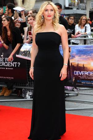 LONDON, ENGLAND - MARCH 30: Kate Winslet attends the European premiere of 'Divergent' at Odeon Leicester Square on March 30, 2014 in London, England. (Photo by Anthony Harvey/Getty Images)