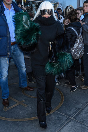 NEW YORK, NY - MARCH 26: Singer and actress Lady Gaga leaves her Midtown Manhattan apartment on March 26, 2014 in New York City. (Photo by Ray Tamarra/GC Images)