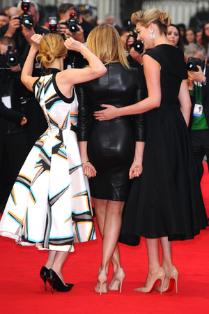 Caption:LONDON, UNITED KINGDOM - APRIL 02: Kate Upton, Cameron Diaz and Leslie Mann attend the UK Gala premiere of 'The Other Woman' at The Curzon Mayfair on April 2, 2014 in London, England. (Photo by Anthony Harvey/Getty Images)