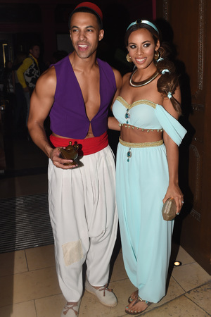 Marvin Humes, Rochelle Wiseman 25th birthday Aladdin