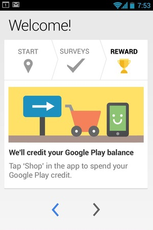 Google's Opinion Rewards app