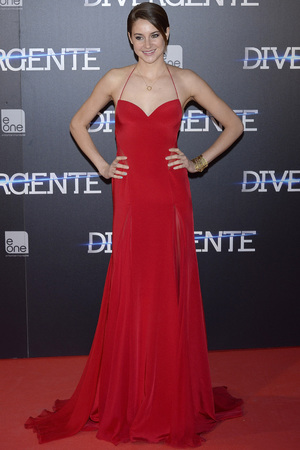 MADRID, SPAIN - APRIL 03: Shailene Woodley attends 'Divergent' premiere at Callao cinema on April 3, 2014 in Madrid, Spain. Fotonoticias/WireImage
