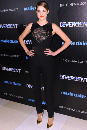 NEW YORK, NY - MARCH 20: Actress Shailene Woodley attends the Marie Claire & The Cinema Society screening of Summit Entertainment's 'Divergent' at Hearst Tower on March 20, 2014 in New York City. (Photo by Jamie McCarthy/Getty Images)