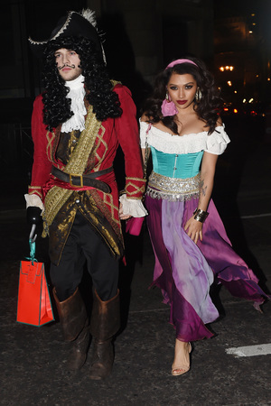 Vanessa White, Gary Salter attends Rochelle Humes' Disney themed birthday party at Steam and Rye restaurant and club on March 29, 2014 in London, England.