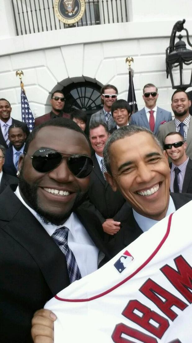 David Ortiz's selfie with Barack Obama