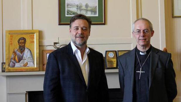 Russell Crowe meets Archbishop of Canterbury to discuss Noah