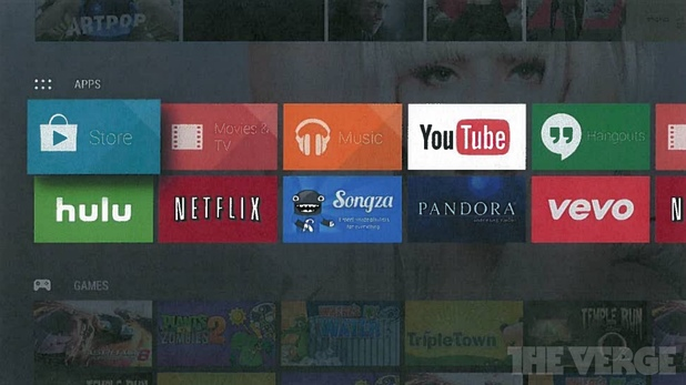 Android TV leaked screenshot