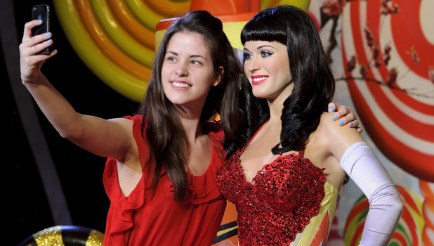 Tansy Ratcliffe-James has a selfie with Katy Perry at Madame Tussauds
