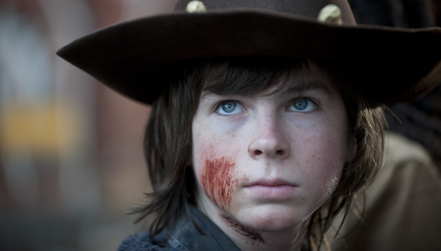 Chandler Riggs as Carl Grimes in The Walking Dead S04E16: 'A'