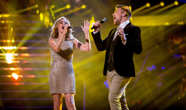 The Voice finalist Jamie Johnson sings 'There Must Be An Angel' with Kylie Minogue
