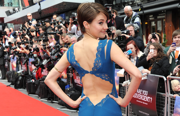 LONDON, ENGLAND - MARCH 30: Shailene Woodley attends the European premiere of 'Divergent' at Odeon Leicester Square on March 30, 2014 in London, England. (Photo by Dave J Hogan/Getty Images)