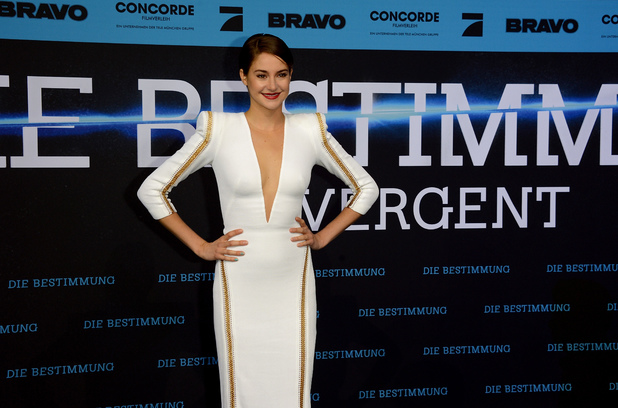 BERLIN, GERMANY - APRIL 01: Shailene Woodley attends 'Die Bestimmung - Divergent' German Premiere at Sony Centre on April 1, 2014 in Berlin, Germany. (Photo by Luca Teuchmann/Getty Images)