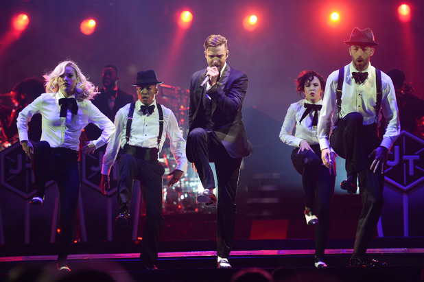 Justin Timberlake performs on The 20 /20 Experience World Tour at The O2 Arena