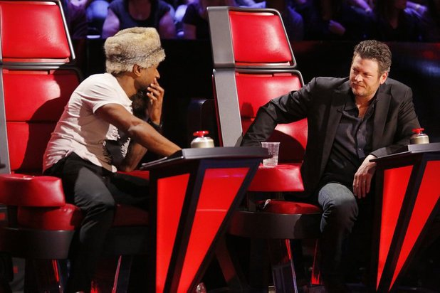 Usher and Blake Shelton on The Voice