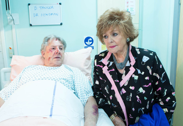 Rita is shocked to learn that Dennis is in hospital after being beaten up.