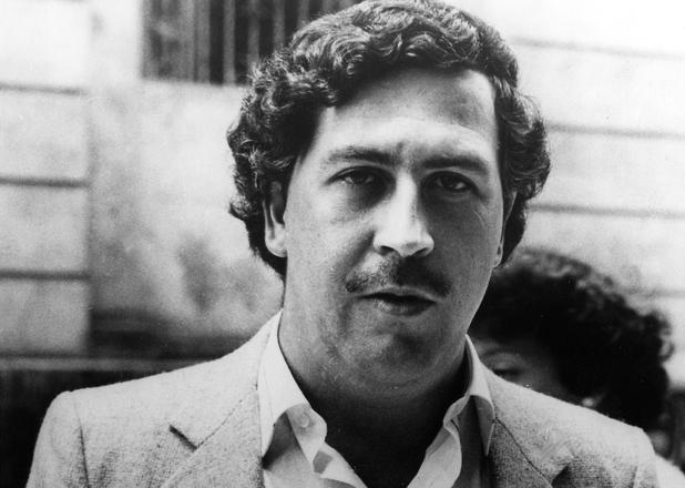 Colombian drug kingpin Pablo Escobar