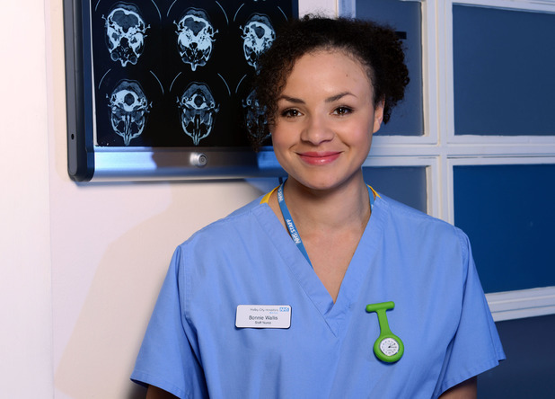 Carlyss Peer as Bonnie Wallis in Holby City