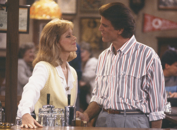 Shelley Long as Diane & Ted Danson as Sam in Cheers
