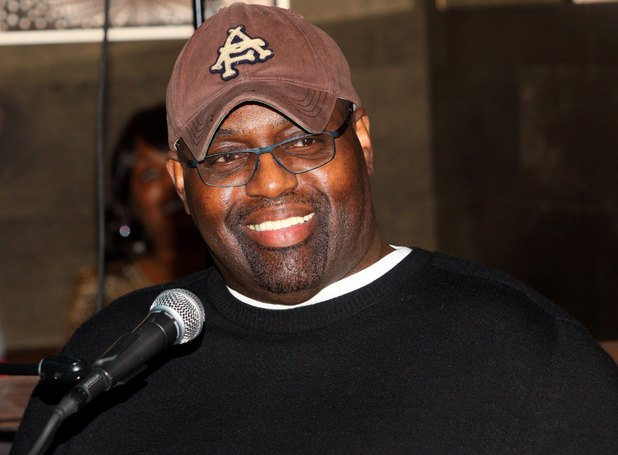 Frankie Knuckles, is interviewed during 'The Experience With Frankie Knuckles' at The Shrine in Chicago, Illinois on JANUARY 15, 2013 (