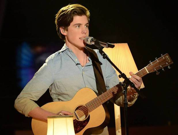 Sam Woolf performs on American Idol